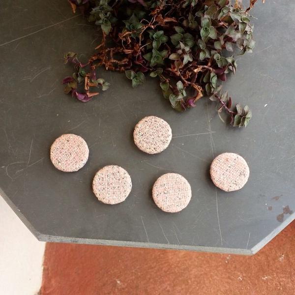 Kit 5 botões encapados vintage