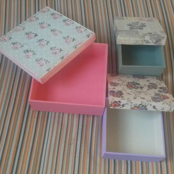 Kit caixas de madeira