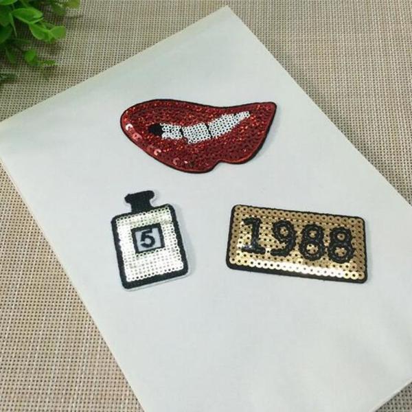 03 patch patches lantejoulas adesivo termocolante