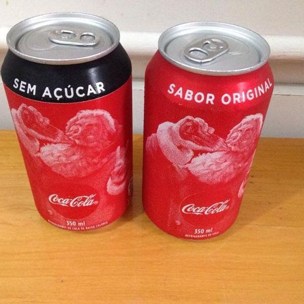 2 latas coca cola zero e original 350ml natal 2019 r$48