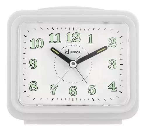 2588 relógio despertador branco dois alarme super alto