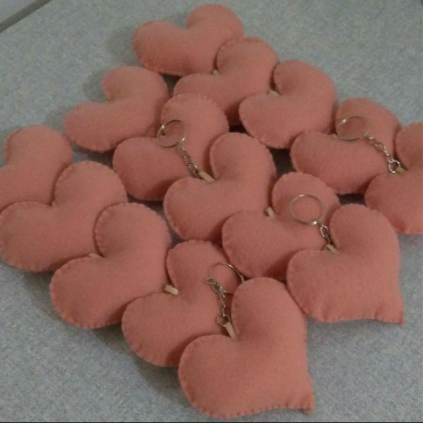 50 chaveiros coração em feltro para lembrancinhas de em Mogi Das ...