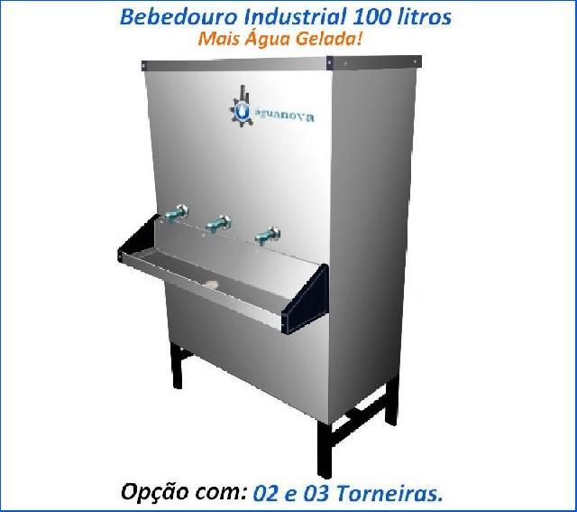 Bebedouro industrial 100 litros 02 ou 03 torneiras