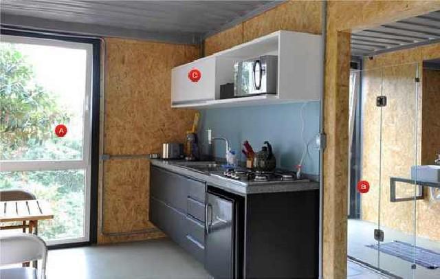 Decoração de interiores,projeto container
