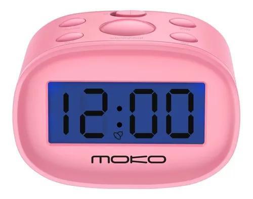 Despertador digital de cabecera mini pantalla lcd luz noctur