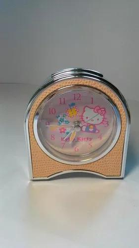 Despertador relógio da hello kitty rosa que brilha no