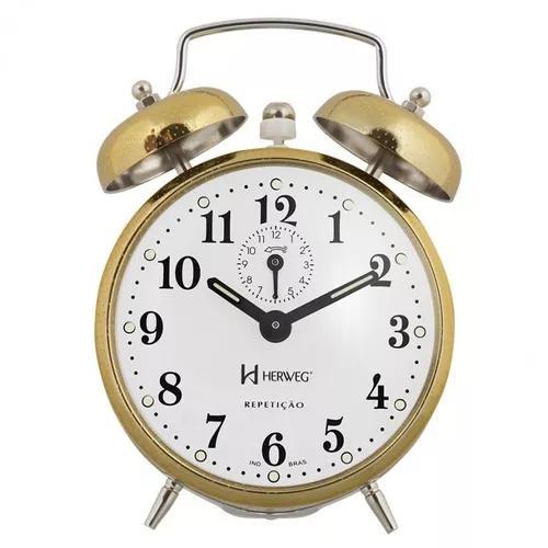 Despertador relogio mecanico vintage retro campainha alarme