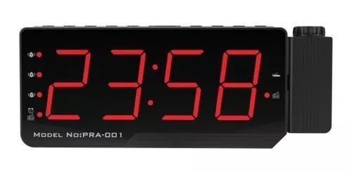 Digital rádio relógio alarme projeção snooze timer