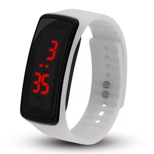 Homens mulheres led relógio digital pulseira