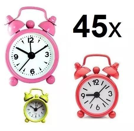 Kit 45 unid despertador retro relógio presente l