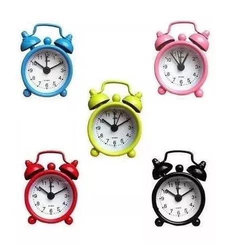 Kit 5 mini relógio despertador l