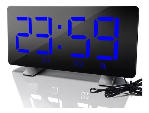 Led fm rádio digital despertador com duplo despertador e 2