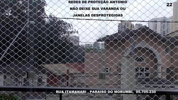 Redes de proteção no paraiso do morumbi, rua itamanari,