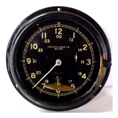 Relógio 1965 chelsea clock co boston com chave e corda