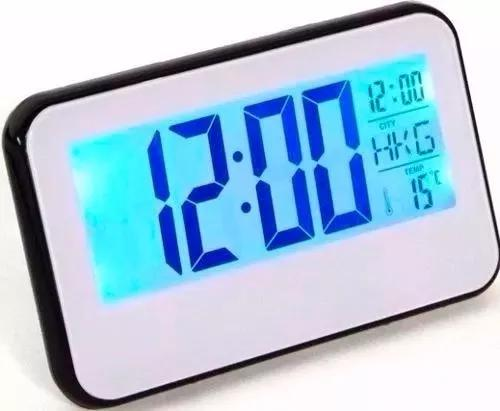 Relógio cabeceira digital lcd data t