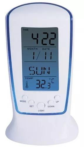 Relógio de mesa digital com despertador t