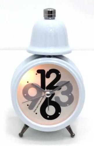 Relógio despertador analógico mod antigo 1sino mecânico