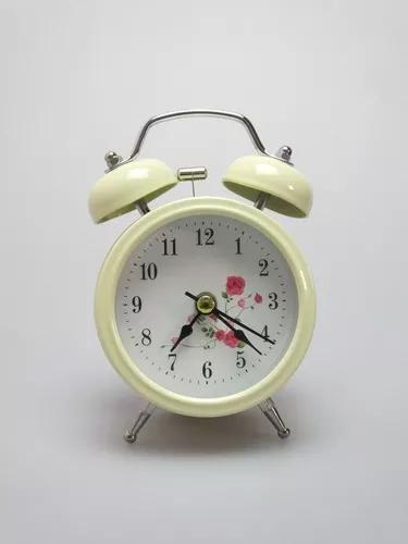 Relógio despertador analógico retrô vintage campainha