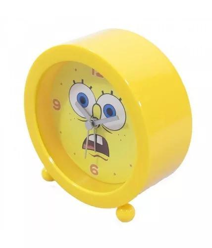 Relógio despertador bob careta - bob esponja