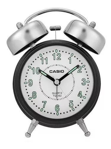 Relógio despertador de mesa casio - tq-362-1bdf