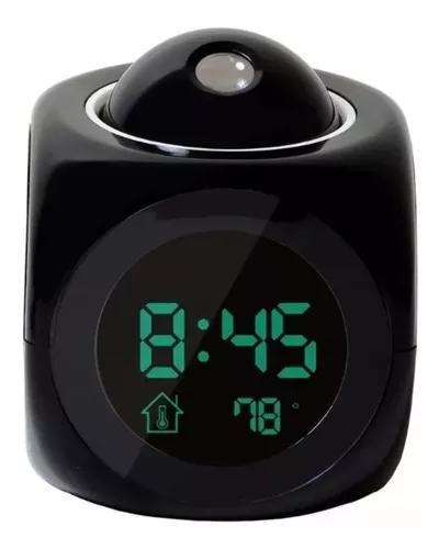 Relógio despertador dígital com projeto de horário