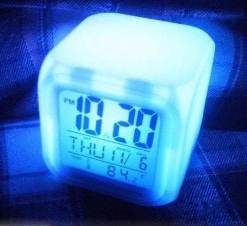 Relógio despertador digital cubo led 7 frete grátis!!!