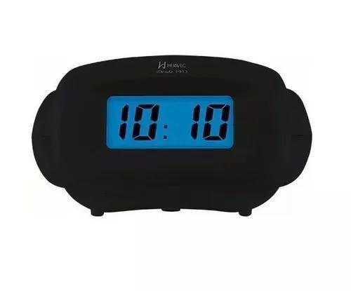 Relógio despertador digital herweg 2973 034 preto