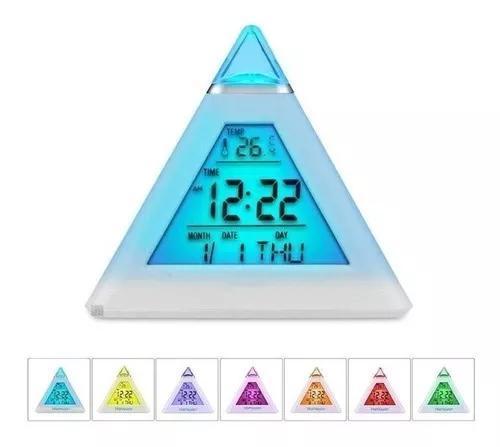 Relógio despertador digital pirâmide 20 unidades