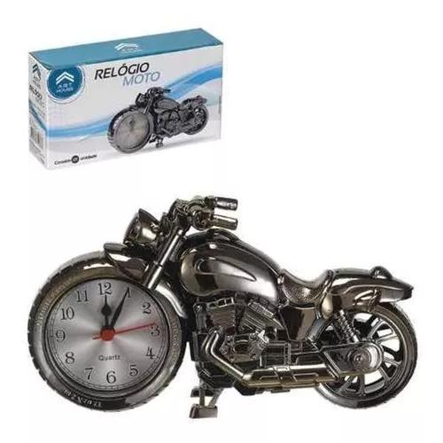 Relógio despertador enfeite de mesa moto