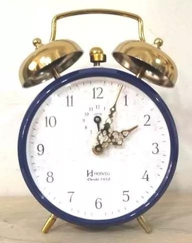 Relógio despertador h herweg 2290 azul escuro