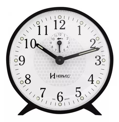 Relógio despertador herweg 2220 034 preto - refinado