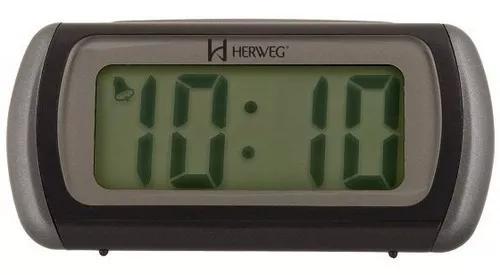 Relógio despertador herweg 2916 034 digital mesa - refinado