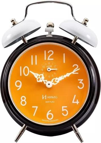 Relógio despertador mecânico estilo retro vintage ref -