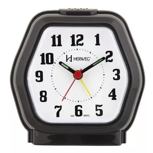 Relógio despertador quartz tradicional herweg 2635-34