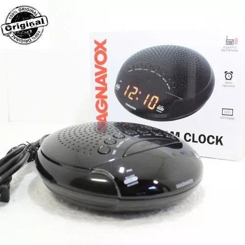 Relógio despertador radio digital fm bi volt 110-220 dual