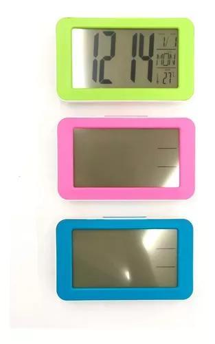 Relógio digital mesa despertador números grande sensor