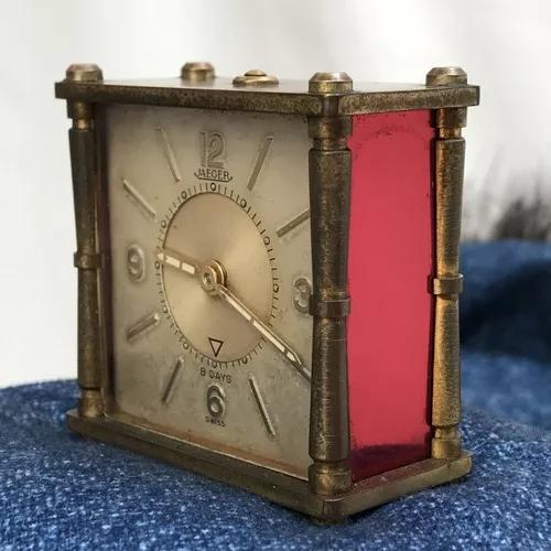 Relógio jaeger lecoultre 8 dias alarme / desk watch
