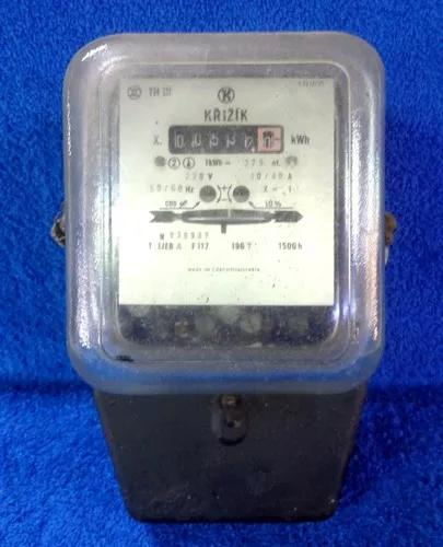 Relógio medidor de luz antigo importado marca krizik