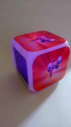 Relogio cubo led mickey pok