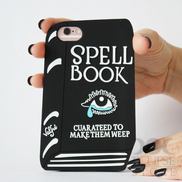 Capa case iphone 6 plus 6s plus 7 8 spell book livro