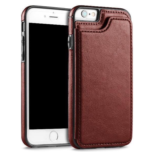 Capinha carteira case magnetica em couro iphone x e xs
