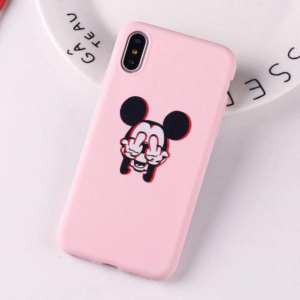 Capinha de silicone mickey - iphone 6 e 6s