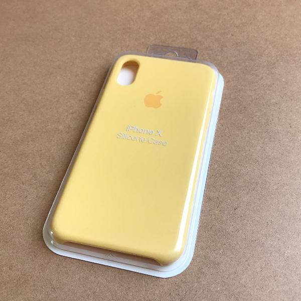 Capinha silicone apple - iphone x amarelo