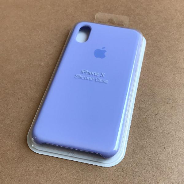 Capinha silicone apple - iphone x lilás