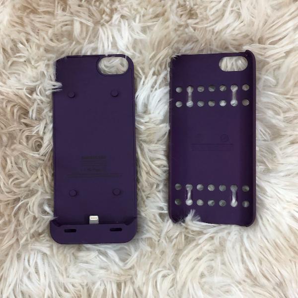 Case capinha iphone 5 s/se carregador portátil