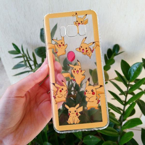 Case capinha pikachu galaxy s8