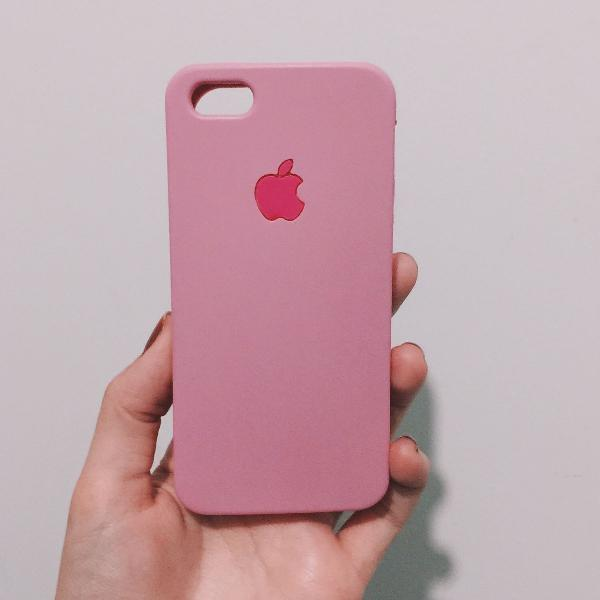 Case iphone 5s rosa anti-impacto