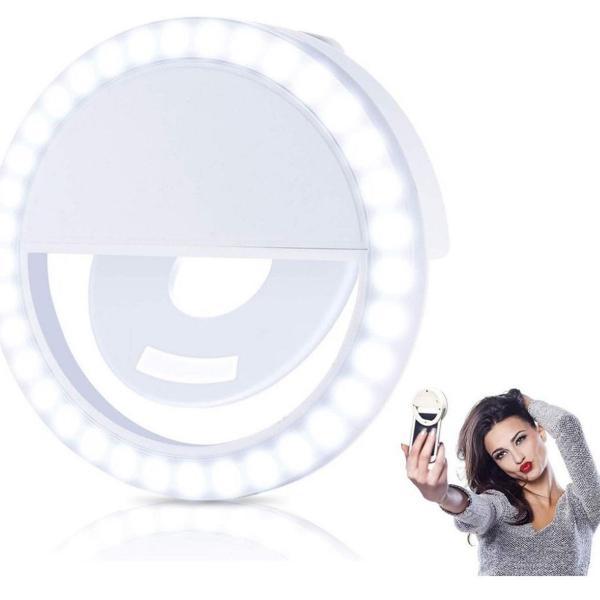 Clipe anel luz para selfie ring light flash