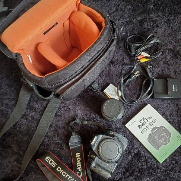 Câmera canon eos rebel t3i (eos 600d)