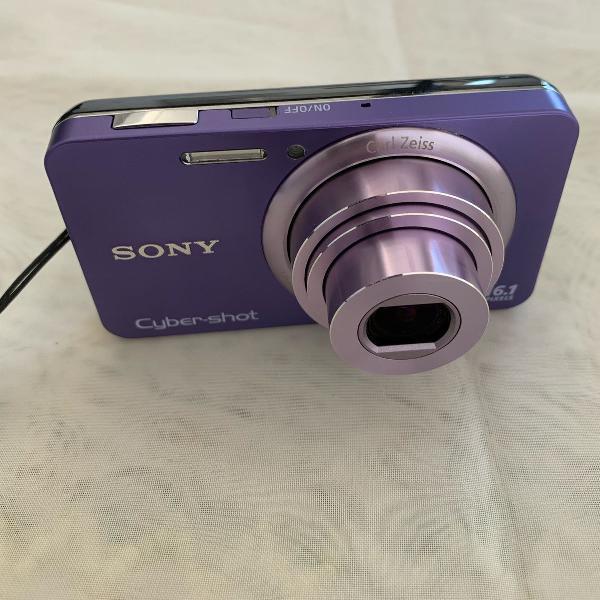 Câmera fotográfica digital sony dsc-w710 16.1 mp roxa